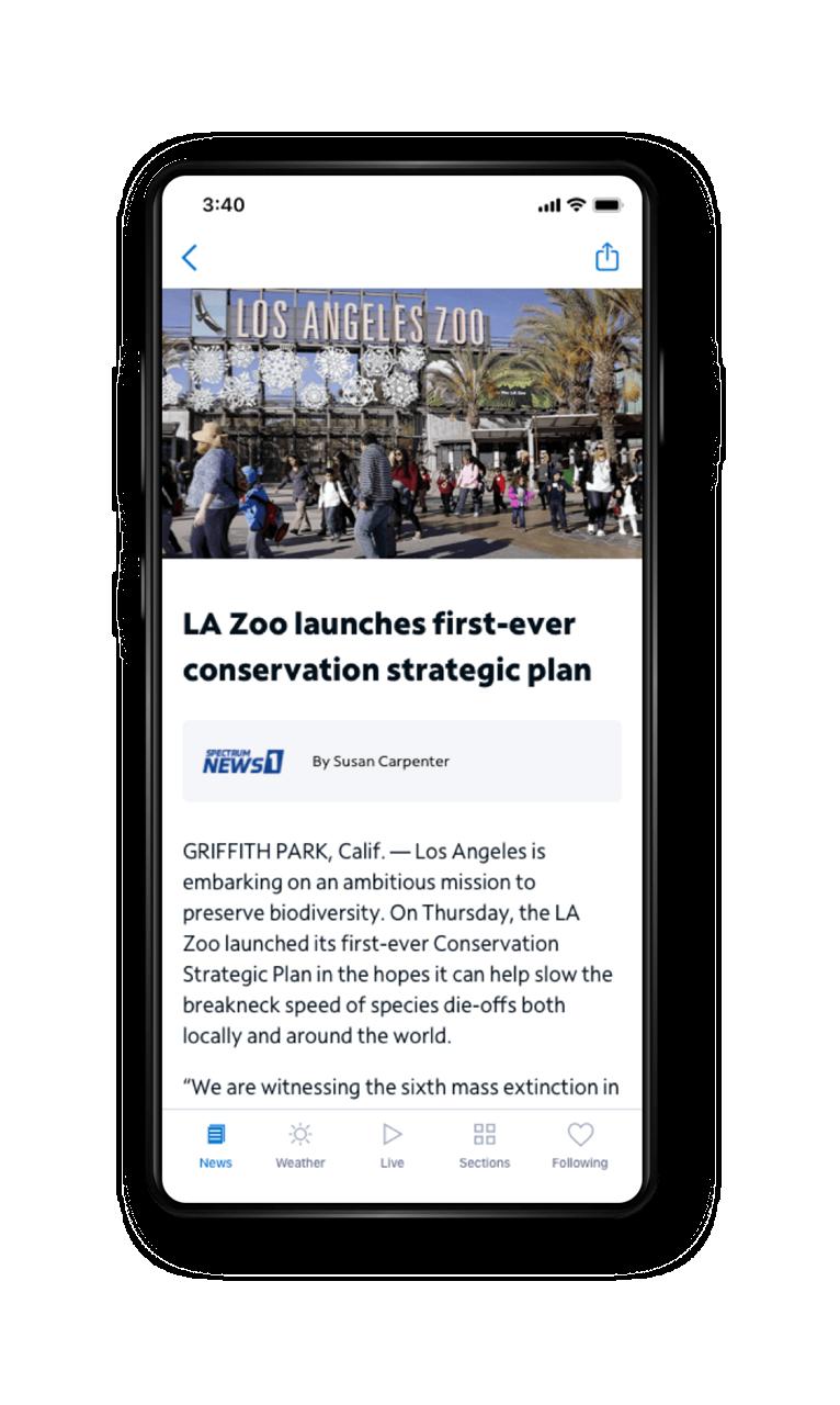 Spectrum News App - Article View