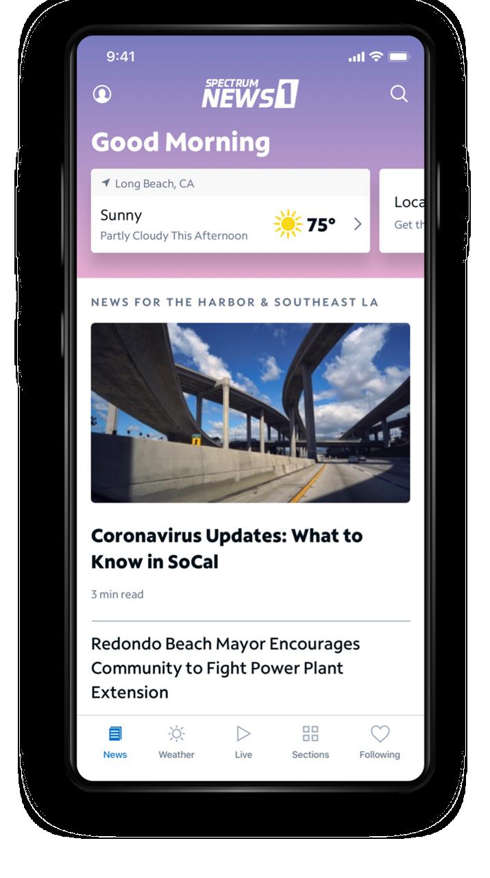 Spectrum News App - Home Screen