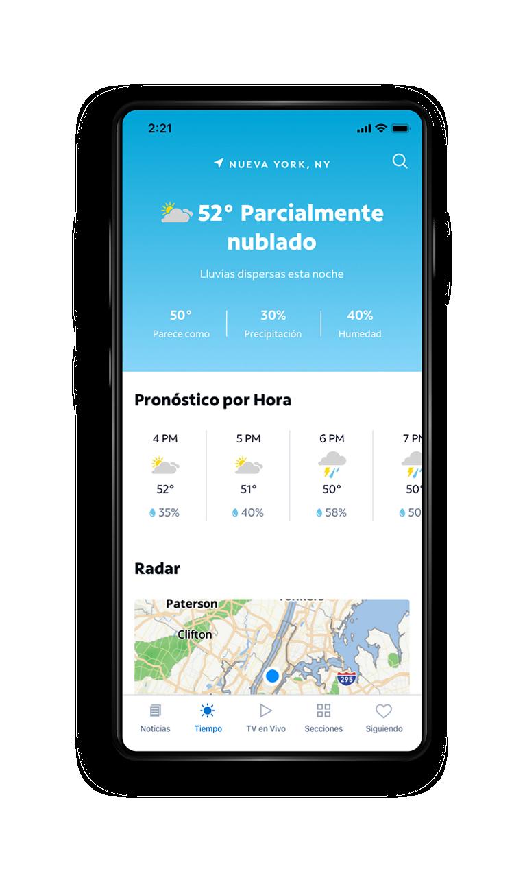 Spectrum News App - Weather Screen